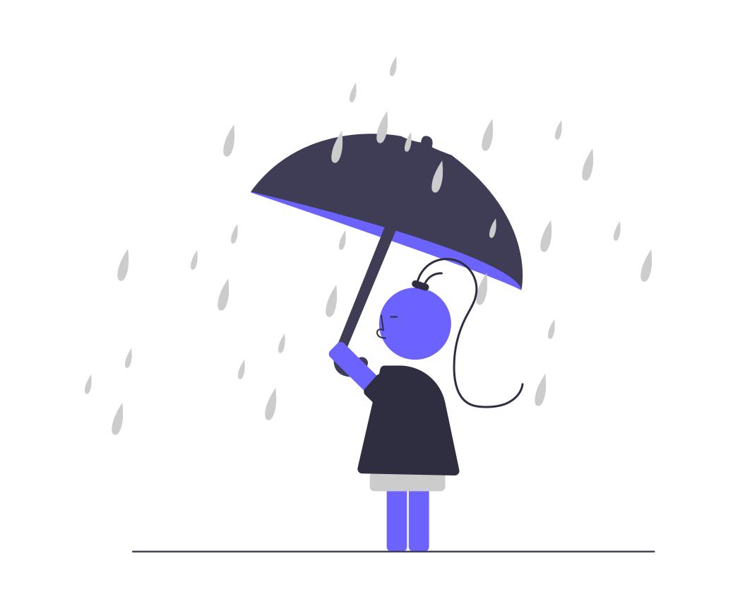 雨の日に稼働する